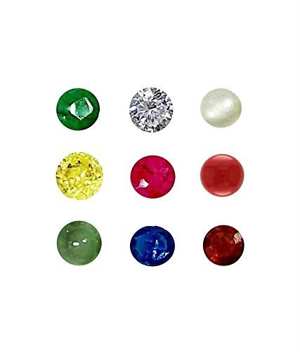 Navratan 9 Gems, AAA Quality and Certified Multicolored Natural Navratna 9 Gemstones
