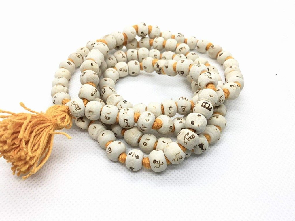 Tulsi Basil mala with Ram naam Engraved on Every Bead for Japa.
